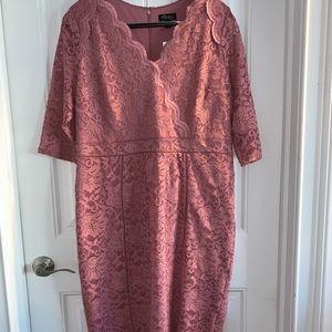 Thalia Sodi Coral Lace Dress